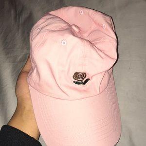 light pink rose hat
